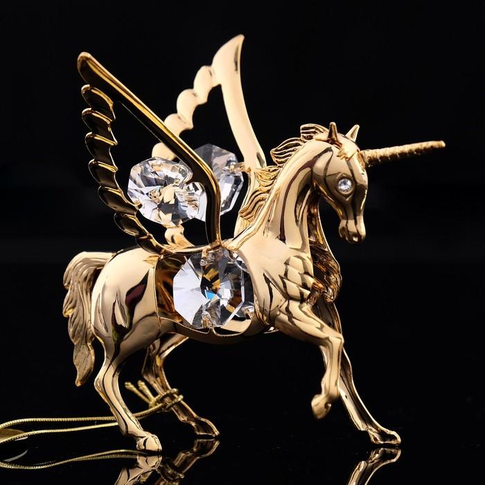 Сувенир «Конь - Пегас», 8×6×7 см, с кристаллами Сваровски