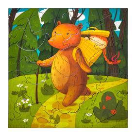 """Пазл """"Маша и Медведь"""", дерево, 25 деталей"""