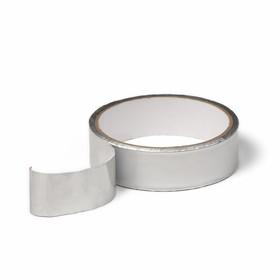 Лента герметизирующая, клейкая, 25 мм × 10 м, алюминиевая, для поликарбоната от 4 до 8 мм