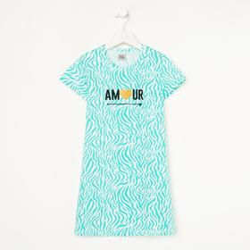 Сорочка для девочки, цвет зелёный/amour, рост 98-104 см