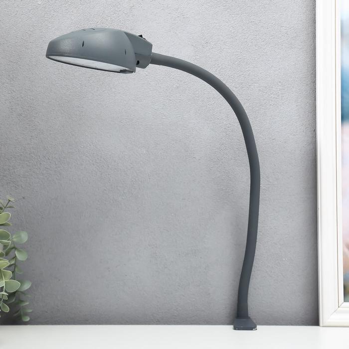 Лампа настольная струбцине Веста 7Вт LED, гибкая стойка, антрацит, h=40 см - фото 576821