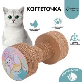 Гофрокогтеточка с кошачьей мятой в пакетике «Котойога»
