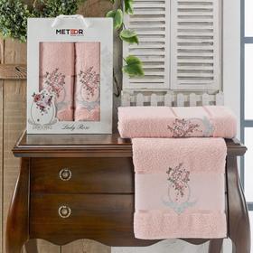 Комплект махровых полотенец в коробке METEOR Lady Rose 50х90, 70х140 см