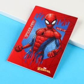Блокнот А6 32 л на скрепке Человек-паук Супергерой