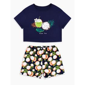 Пижама с шортами «Кокосы», рост 164 см