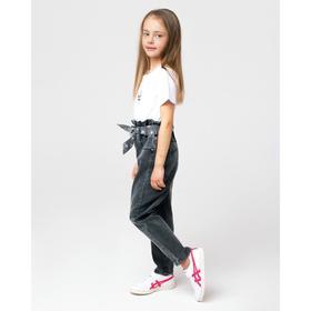 Джинсы для девочки, цвет серый, рост 110 см