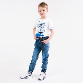 Джинсы для мальчика, цвет синий, рост 140 см