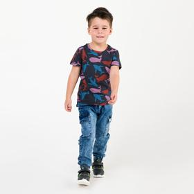 Джинсы для мальчика, цвет синий, рост 110 см