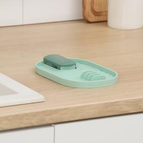 Подставка для крышки и кухонных принадлежностей, 18×11×2 cм, цвет МИКС