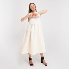 Платье женское MINAKU: Cotton collection, цвет молочный, р-р 42