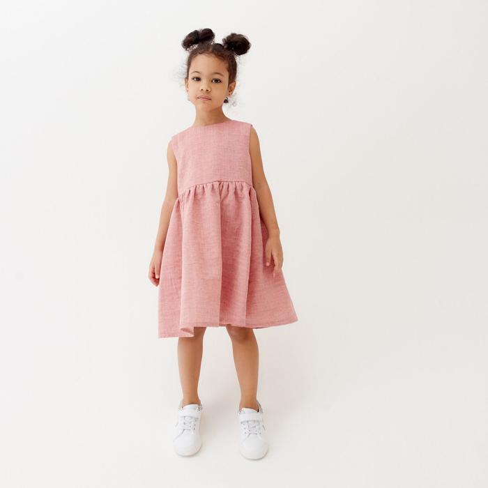 Платье для девочки MINAKU: Cotton collection, цвет красный, рост 146 см - фото 2598502
