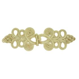 Плетёная застежка золото длина 22 см, в наборе 10 штук