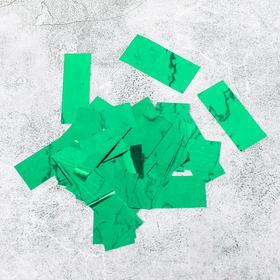 """Наполнитель для шара """"Конфетти прямоугольник"""" 5 см, фольга, цвет зеленый 100 гр."""