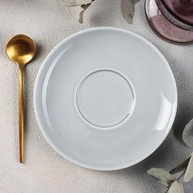 Блюдце «Акварель», d=14,5 см, цвет светло-серый
