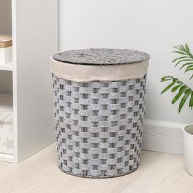 Корзина для хранения плетёная Доляна «Уют», 31×31×41 см, цвет серый