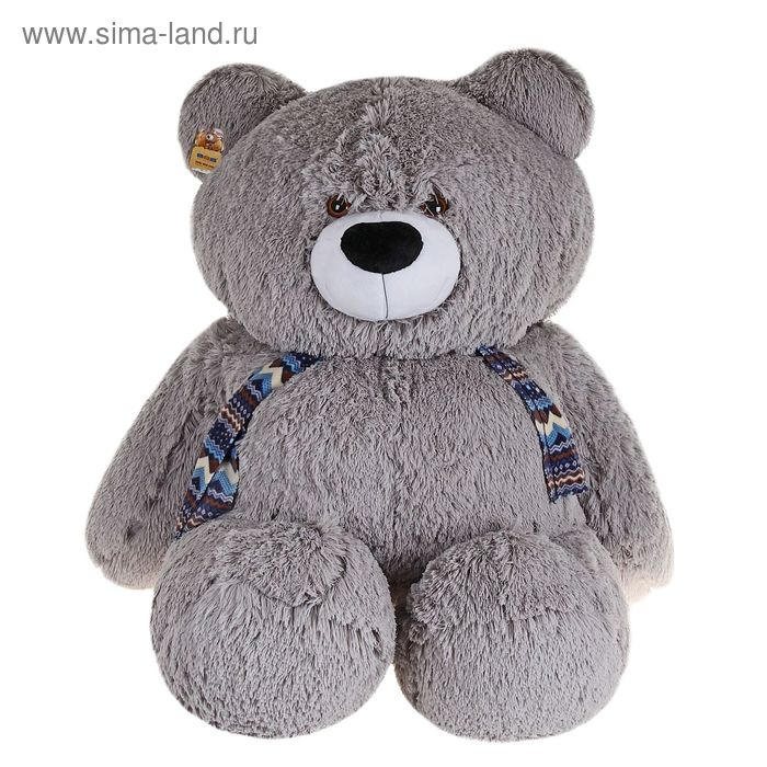 "Мягкая игрушка ""Медведь Грейс"", цвет серый"