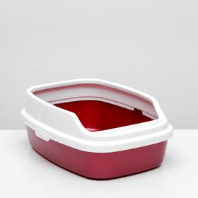 "Туалет ""Айша"" с бортом 53 х 39 х 21 см, красный перламутр"