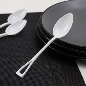 Disposable table spoon, 15 cm, 25 pcs / pack, white