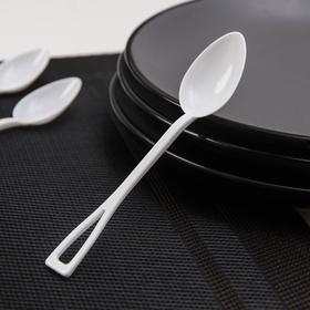 Disposable tea spoon, 12.5 cm, 25 pcs / pack, white
