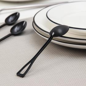 Disposable tea spoon, 12.5 cm, 25 pcs / pack, black