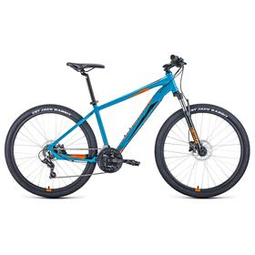 """Велосипед 27,5"""" Forward Apache 3.2 disc, 2021, цвет бирюзовый/оранжевый, размер 19"""""""