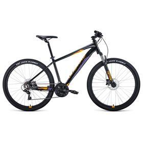 """Велосипед 27,5"""" Forward Apache 3.2 disc, 2021, цвет черный/оранжевый, размер 19"""""""