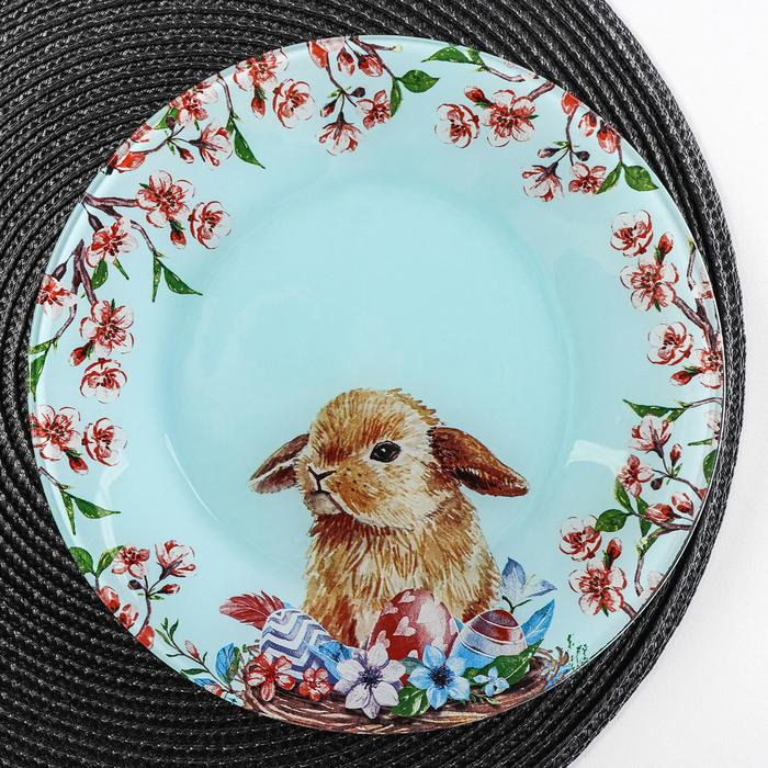 Тарелка обеденная Доляна «Кролик», d=23 см - фото 970227