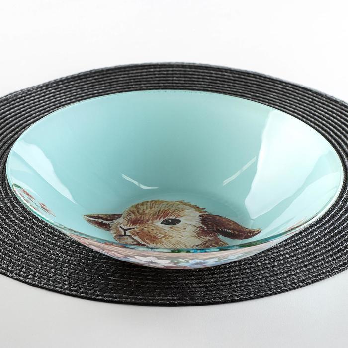 Салатник Доляна «Кролик», 22×5 см - фото 970237