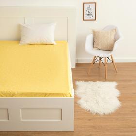 """Простыня  LoveLife """"Геометрия"""", желтый, 150*215 см, 100 % хлопок, сатин"""