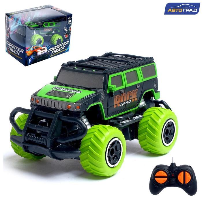 Джип радиоуправляемый «Граффити», работает от батареек, цвет зелёный - фото 107021723
