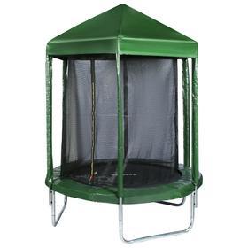 Батут 183 см с крышей, с сеткой 170 см, цвет зеленый