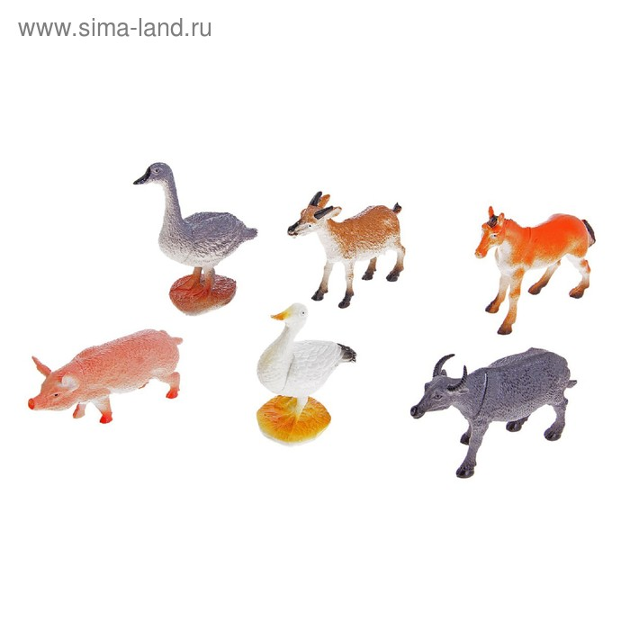 "Набор животных ""Ферма"", (набор 6 шт)"