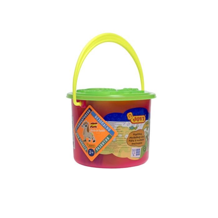Набор для лепки JOVI: пластилин 6 цветов, 3 формочки, 3 стека, клеенка, в пластиковом ведёрке