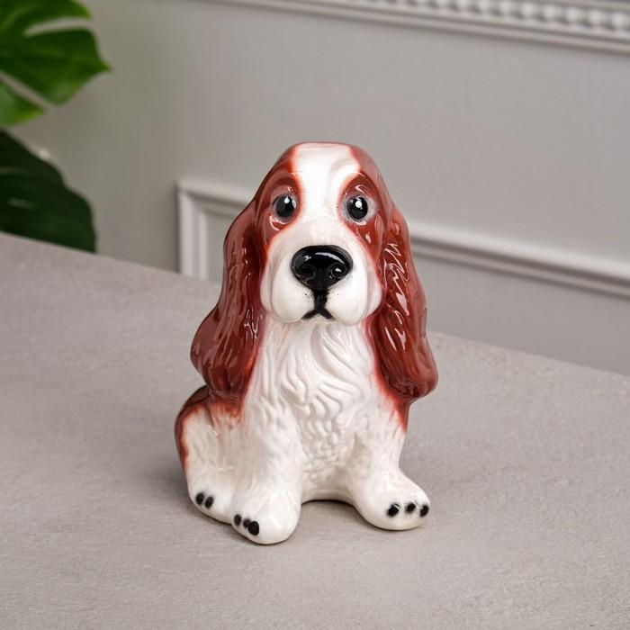 "Копилка ""Собака Спаниэль"" глянец рыжая"