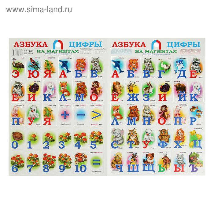 Плакат «Азбука и цифры на магнитах»