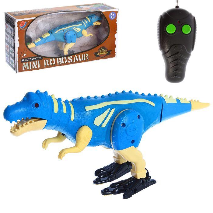 """Динозавр радиоуправляемый """"Робозавр"""", 2 функции, световые и звуковые эффекты, МИКС"""