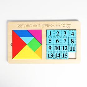 Развивающий набор «Танграм + пятнашки» 30×17,3×0,8 см