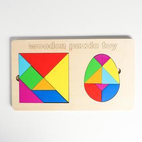 Развивающий набор «Танграм + яйцо» 30×17,3×0,8 см