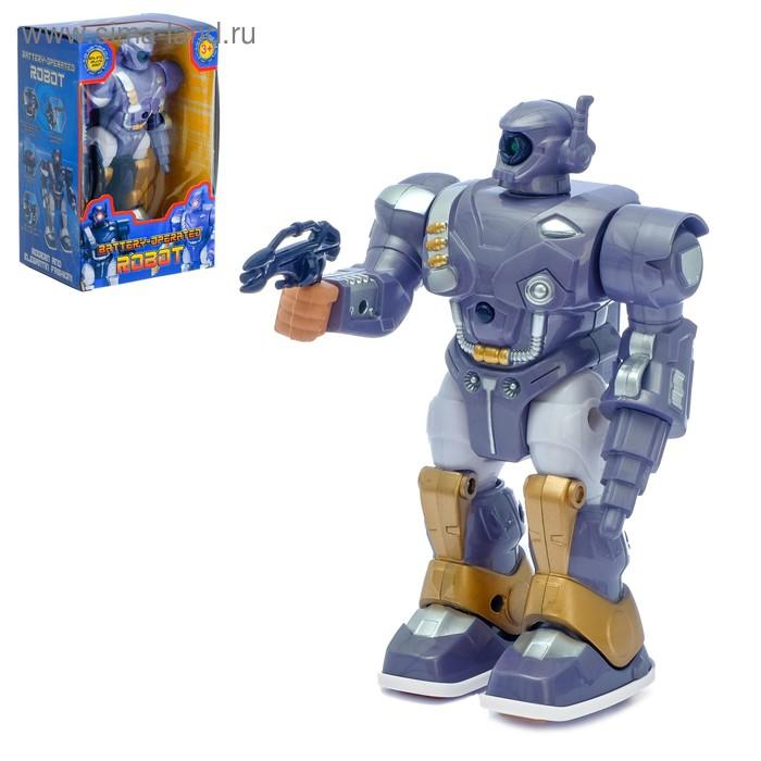 """Робот """"Циклоп"""", работает от батареек, световые и звуковые эффекты, цвета МИКС"""