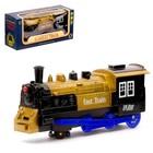Паровоз «Экспресс», световые и звуковые эффекты, работает от батареек, цвета МИКС - фото 76286155
