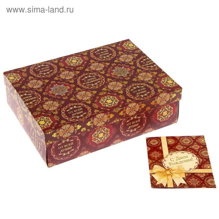 """Подарочный складной набор. Коробка и открытка """"Узоры"""""""