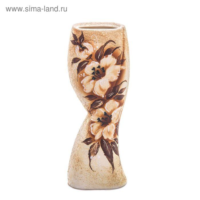 """Ваза """"Камелия"""" цветы, шамот, микс"""