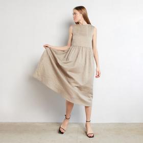 Платье женское MINAKU: Cotton collection, цвет бежевый, р-р 42
