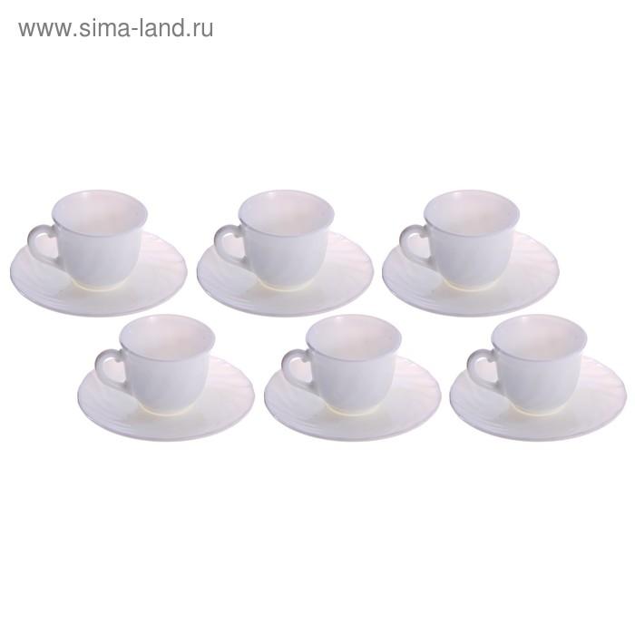 """Сервиз кофейный """"Трианон"""", 12 предметов: 6 чашек 90 мл, 6 блюдец"""