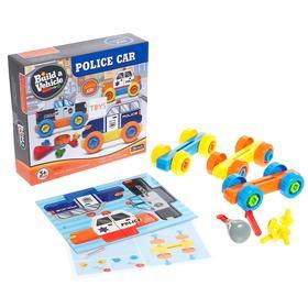 Конструктор винтовой «Полицейский транспорт», набор 3 штуки, 34 детали
