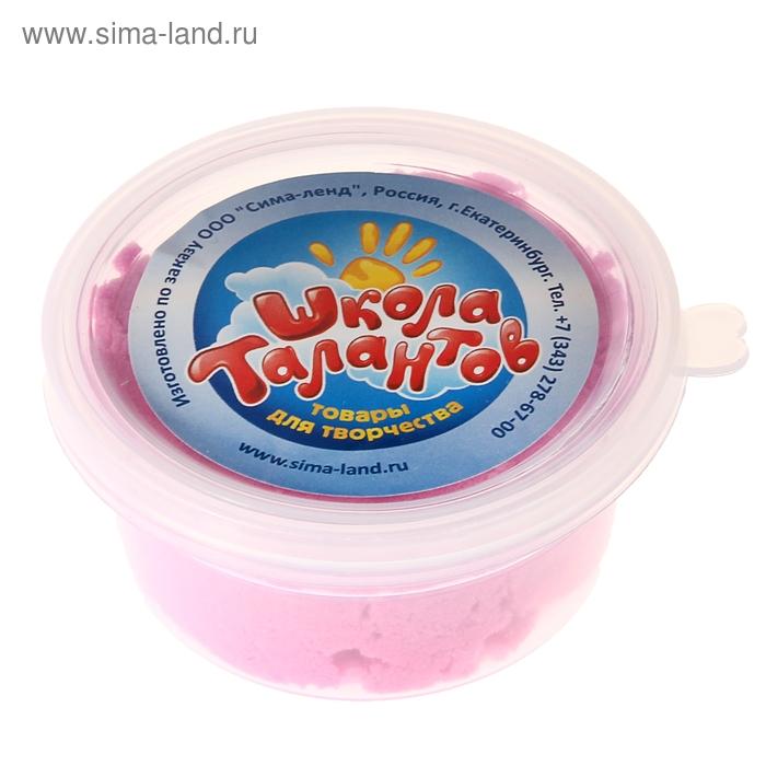 Песок для лепки розовый в банке, 80 гр