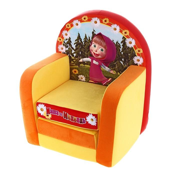 """Мягкая игрушка """"Кресло-кровать Маша и Медведь"""""""