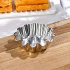 Форма для кекса, высота 2,5 см, верхний диаметр 7,5 см