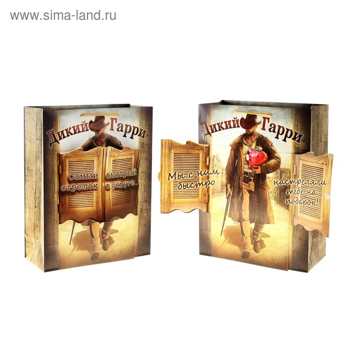 Пакет ламинат с открыткой «Ковбой», 29 х 37 см