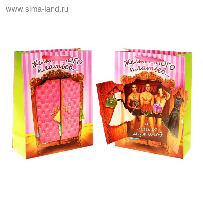 Пакет ламинат с открыткой «Шкаф», 29 х 37 см